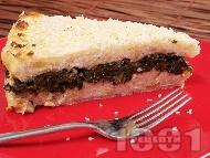 Солена торта с картофи, спанак, заквасена сметана и сирене Фета